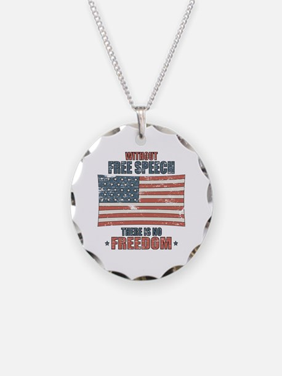 Free Speech Necklace Circle Charm
