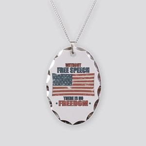 Free Speech Necklace Oval Charm