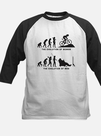 Mountain Biking Kids Baseball Jersey