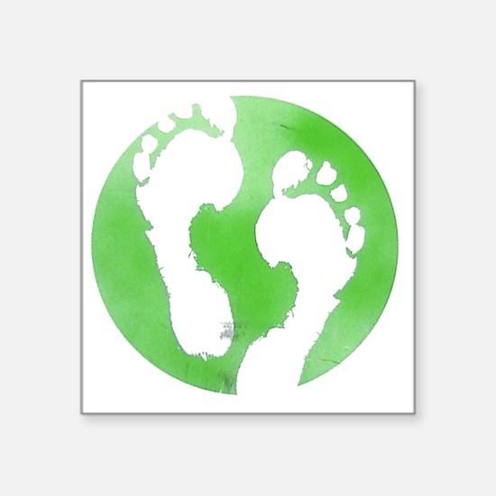 """Global Footprint Square Sticker 3"""" x 3"""""""