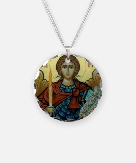St Michael Circle of Protect Necklace