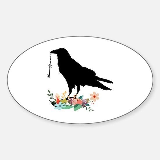 Unique Crow Sticker (Oval)