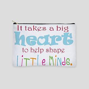 big heart: teacher, Makeup Bag