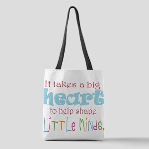 big heart: teacher, Polyester Tote Bag