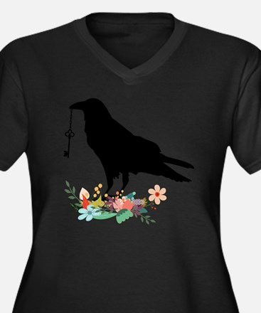 Unique Angry bird Women's Plus Size V-Neck Dark T-Shirt