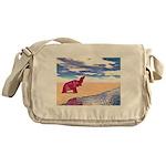 Desert Elephant Quest For Water Messenger Bag