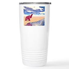 Desert Elephant Quest For Water Travel Mug