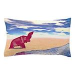 Desert Elephant Quest For Water Pillow Case