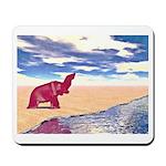 Desert Elephant Quest For Water Mousepad