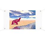 Desert Elephant Quest For Water Banner