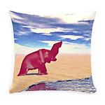 Desert Elephant Quest For Water Everyday Pillow