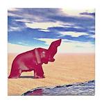 Desert Elephant Quest For Water Tile Coaster