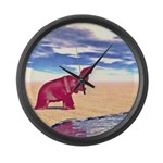 Desert Elephant Quest For Water Large Wall Clock