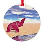 Desert Elephant Quest For Water Ornament