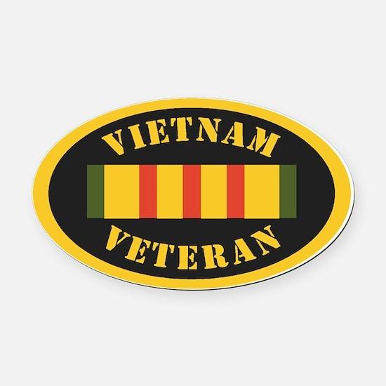 Vietnam Veteran Oval Car Magnet