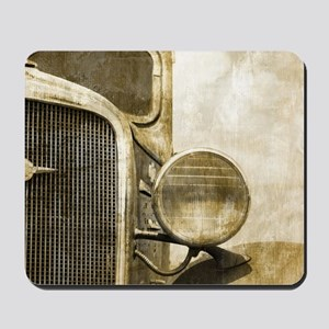 rusty vintage farm truck Mousepad