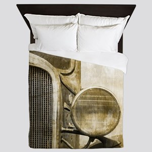rusty vintage farm truck Queen Duvet
