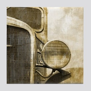 rusty vintage farm truck Tile Coaster