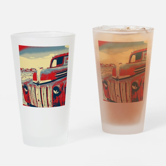 cool retro old truck  Drinking Glass