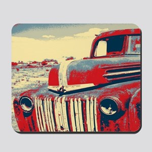 cool retro old truck  Mousepad