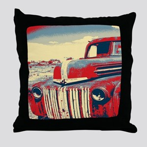 cool retro old truck  Throw Pillow