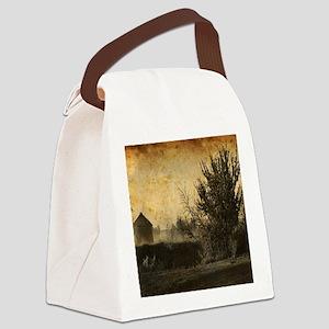 rustic Rural farm landscape Canvas Lunch Bag