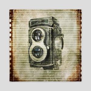 photographer retro camera Queen Duvet