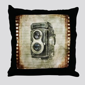 photographer retro camera Throw Pillow