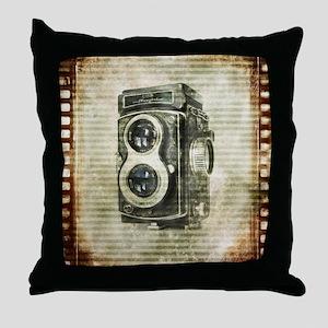 photographer retro camera Throw Pillow