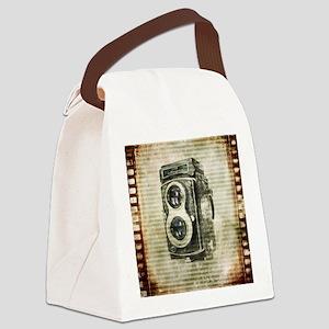 photographer retro camera Canvas Lunch Bag