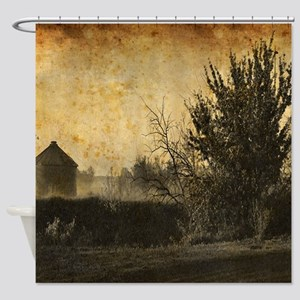rustic Rural farm landscape Shower Curtain