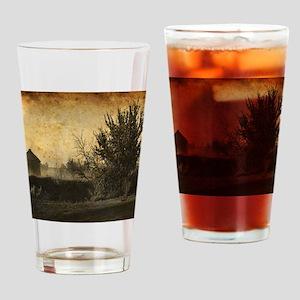 rustic Rural farm landscape Drinking Glass