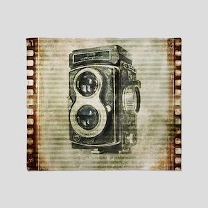 photographer retro camera Throw Blanket