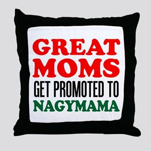 Promoted To Nagymama Drinkware Throw Pillow