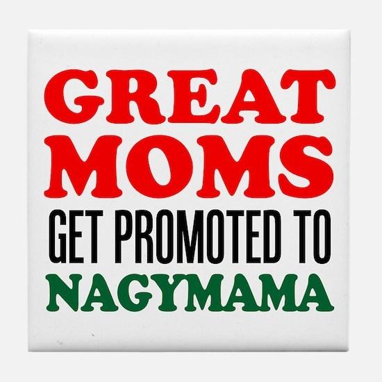 Promoted To Nagymama Drinkware Tile Coaster