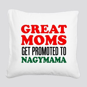 Promoted To Nagymama Drinkware Square Canvas Pillo
