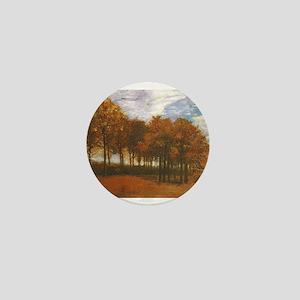 Autumn Lanscape by Van Gogh Mini Button