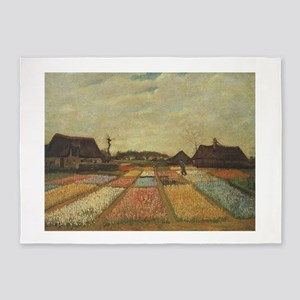 Vincent Van Gogh Bulb Fields 5'x7'Area Rug