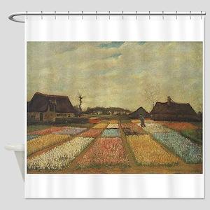 Vincent Van Gogh Bulb Fields Shower Curtain