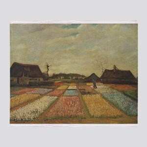 Vincent Van Gogh Bulb Fields Throw Blanket