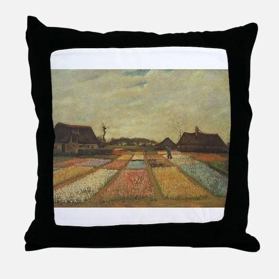 Vincent Van Gogh Bulb Fields Throw Pillow