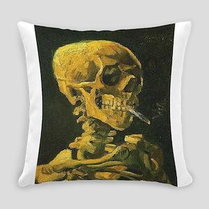 Van Gogh skull Everyday Pillow