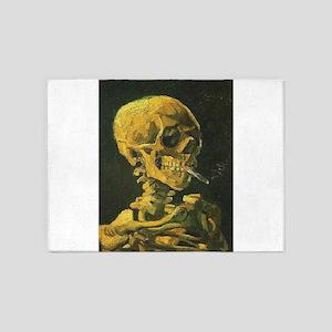 Van Gogh skull 5'x7'Area Rug