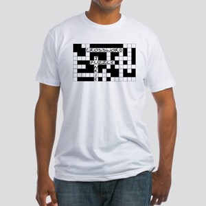 Crossword Puzzle Junkie Fitted T-Shirt