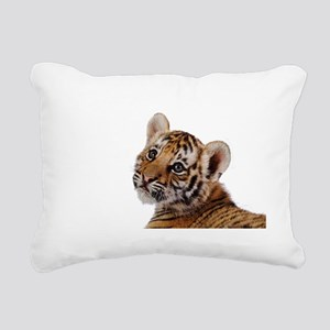 baby tiger Rectangular Canvas Pillow