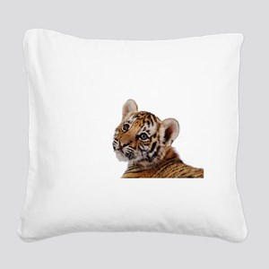 baby tiger Square Canvas Pillow