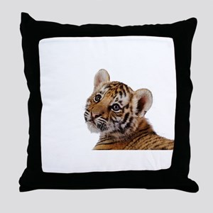 baby tiger Throw Pillow