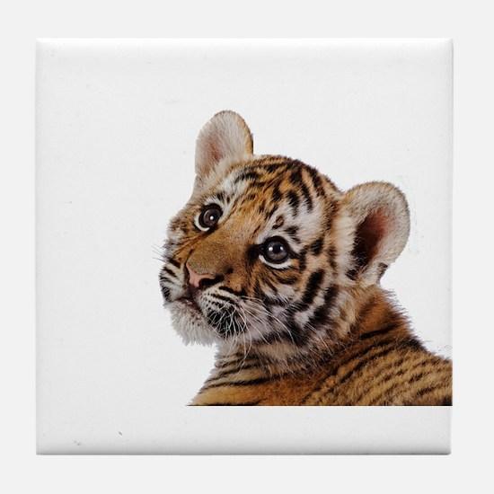 baby tiger Tile Coaster