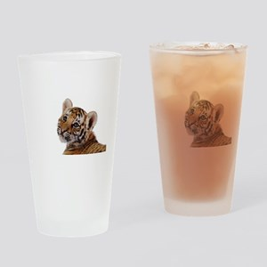 baby tiger Drinking Glass