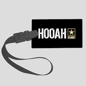 U.S. Army: Hooah (Black) Large Luggage Tag
